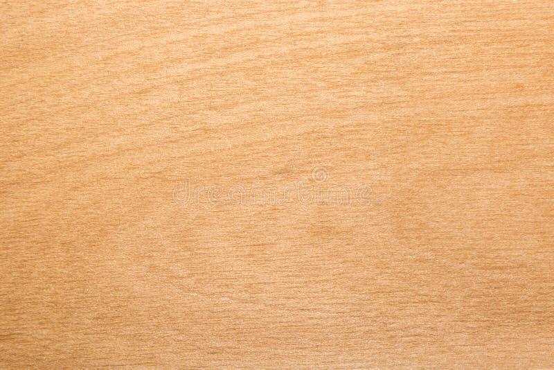 Struttura gialla del compensato della betulla, fondo astratto fotografia stock libera da diritti