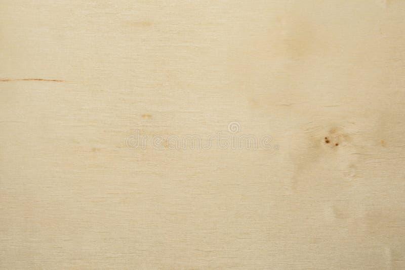 Struttura gialla del compensato della betulla, fondo astratto immagine stock libera da diritti