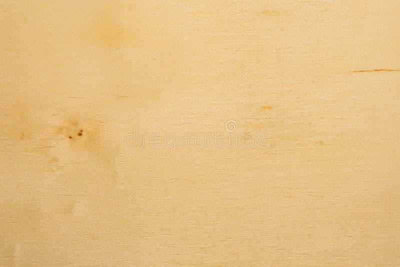 Struttura gialla del compensato della betulla, fondo astratto fotografia stock