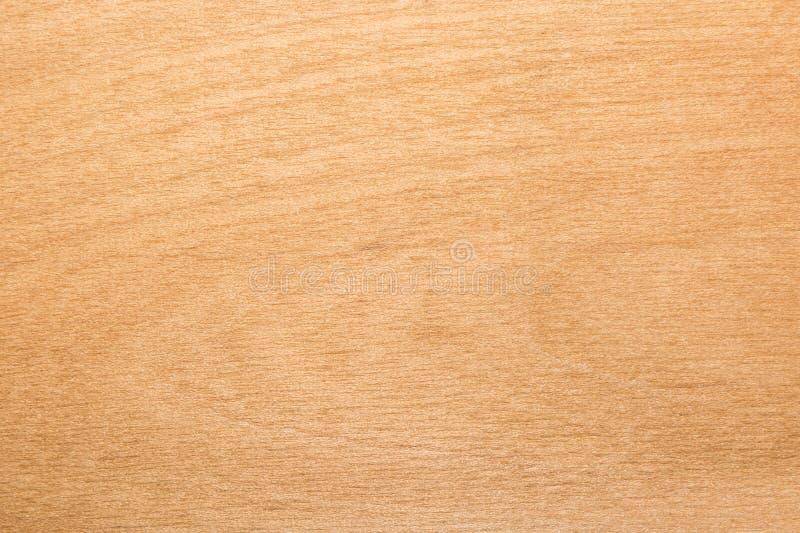 Struttura gialla del compensato della betulla, fondo astratto fotografie stock