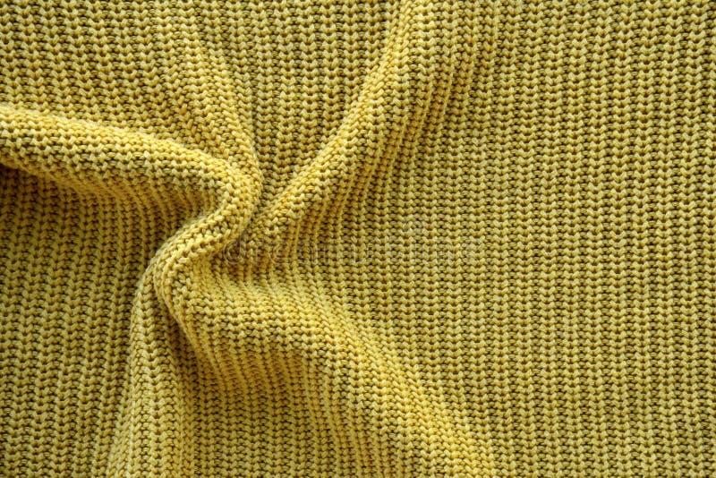 Struttura gialla di un modello elastico inglese tricottato fotografie stock libere da diritti