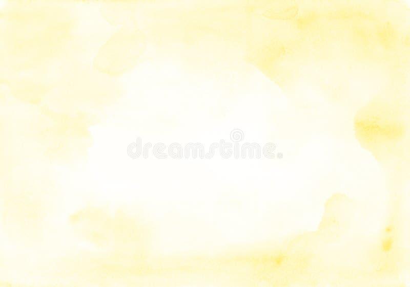 Struttura gialla perfetta dell'acquerello come tela per un progettista o una f illustrazione vettoriale