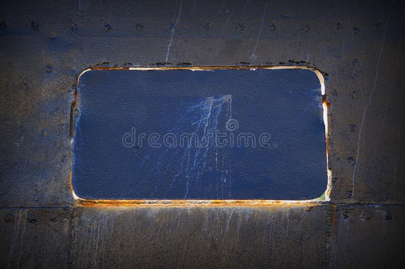 Struttura grigia dettagliata astratta del fondo della parete del metallo del dettaglio della nave con le cuciture ed i ribattini  fotografie stock libere da diritti