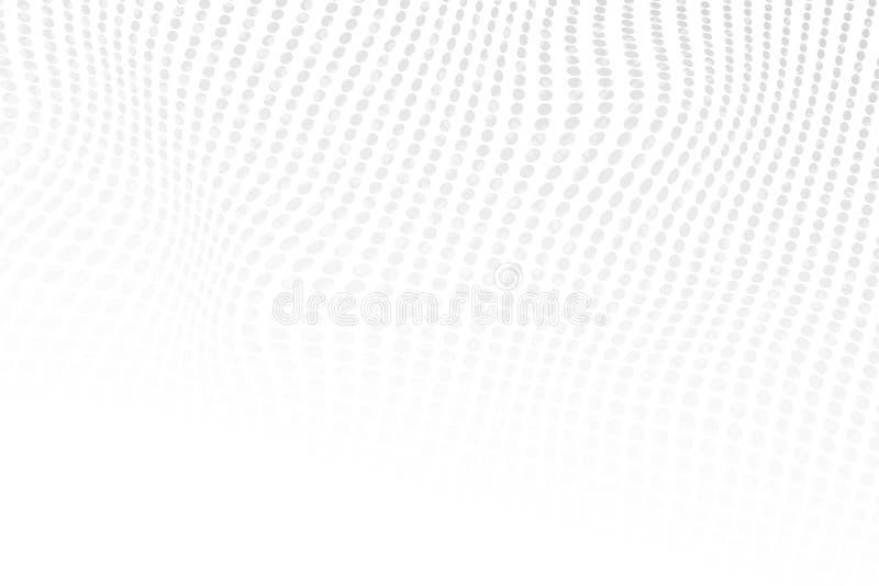 Struttura grigio chiaro di colore punteggiata semitono astratto Fondo di vettore Contesto moderno per i manifesti, siti, bigliett illustrazione di stock