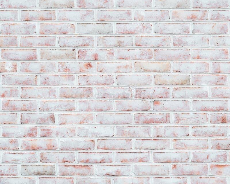Struttura imbiancata del muro di mattoni immagini stock libere da diritti