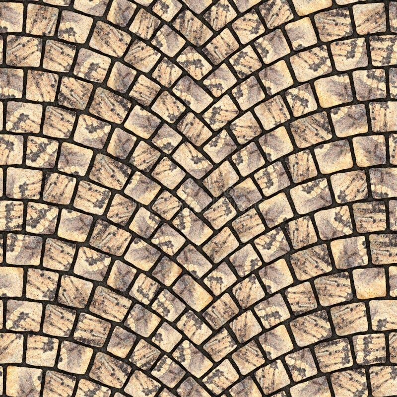 Struttura incurvata 016 della pavimentazione del ciottolo illustrazione vettoriale
