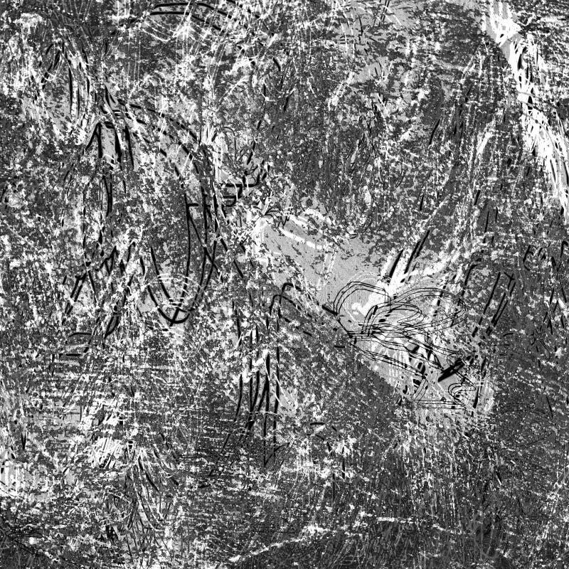 Struttura infrarossa in bianco e nero di lerciume del fondo di alta qualità illustrazione vettoriale