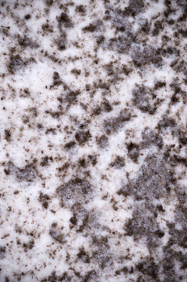 Struttura inquinante della neve scenetta, fondo illustrazione di stock