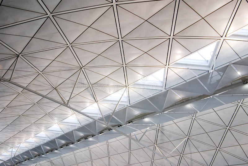 Struttura interna di architettura di Hong Kong fotografie stock