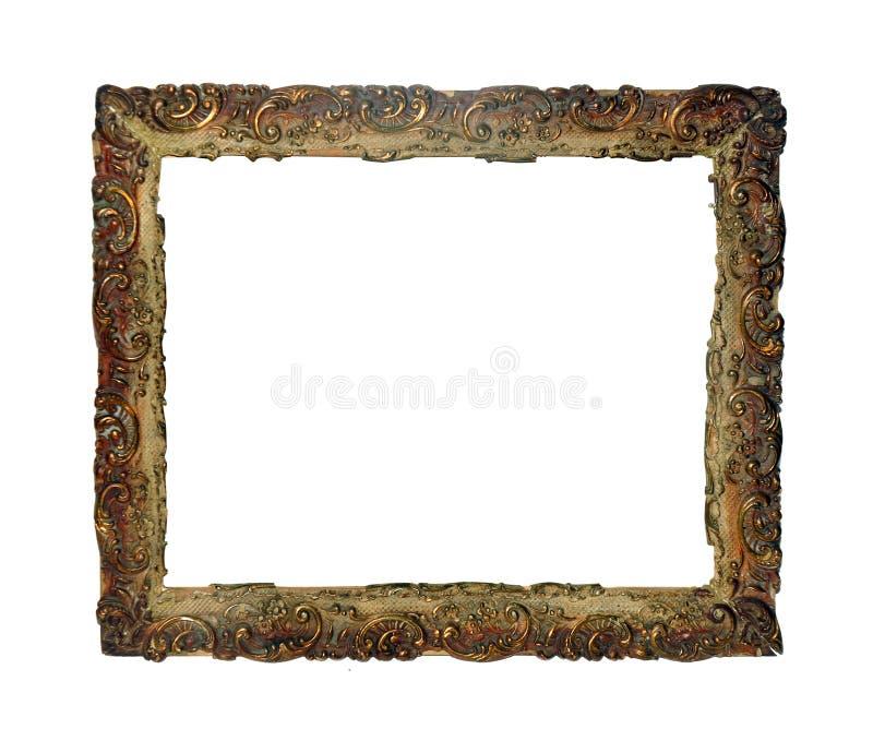 Struttura isolata della foto, struttura antica dorata della foto fotografie stock libere da diritti