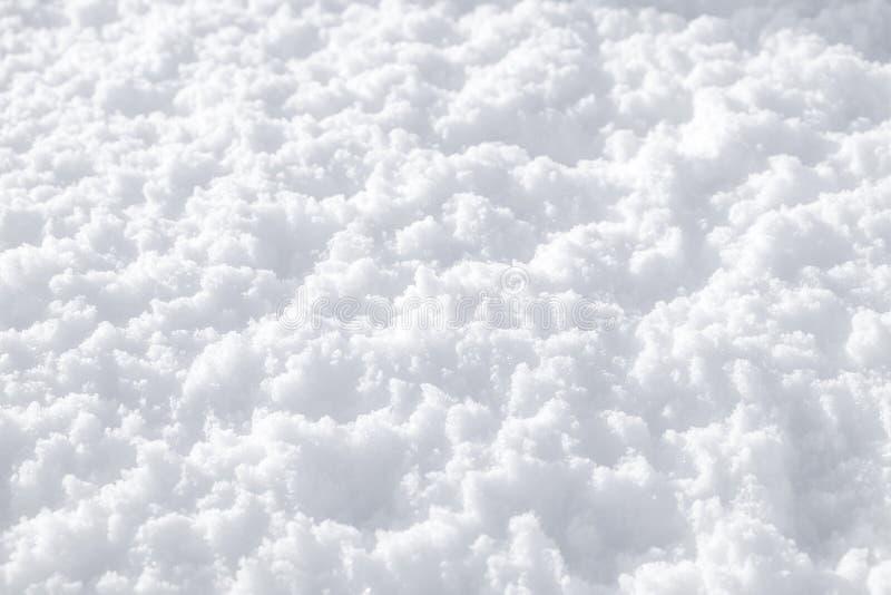 Struttura lanuginosa della neve immagini stock libere da diritti
