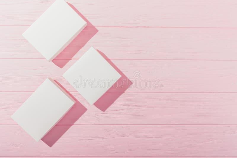 Struttura laterale posta piana dei presente dello spazio in bianco del rombo fotografia stock
