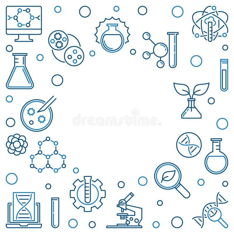 Struttura lineare di Biotech Illustrazione di biotecnologia di vettore royalty illustrazione gratis