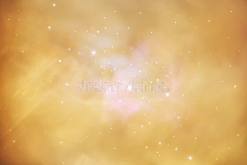 Struttura luminosa dorata dell'annata di pendenza astratta Colorfully riempita di stelle illustrazione di stock