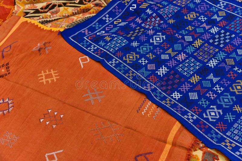 Struttura marocchina del fondo del tappeto immagine stock