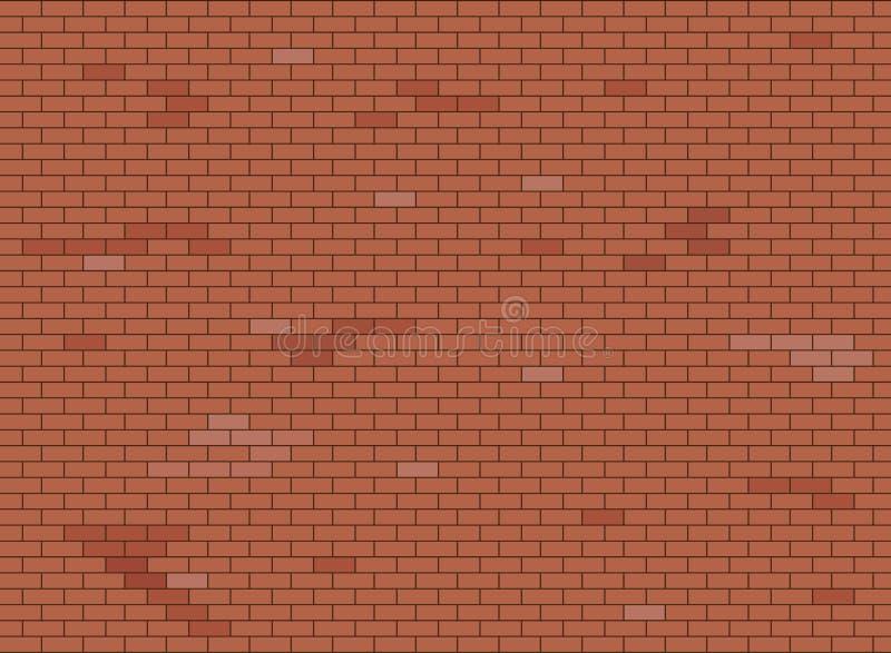 Struttura marrone e rossa astratta del fondo del muro di mattoni, illustrazione di vettore illustrazione di stock