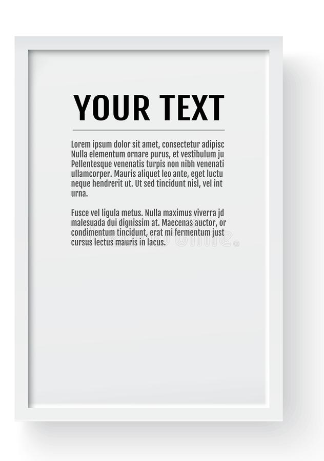 Struttura moderna bianca, modello verticale Posto per testo, la foto, il regalo o altri Illustrazione di vettore illustrazione vettoriale
