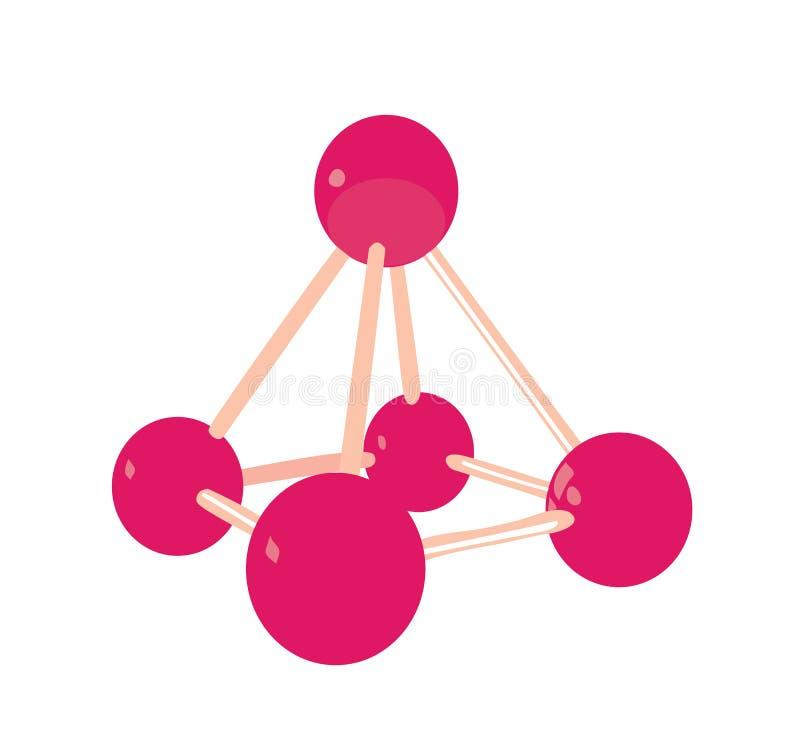 Struttura molecolare chimica. illustrazione di stock