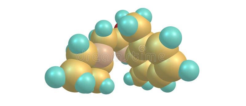 Struttura molecolare della lidocaina isolata su bianco illustrazione vettoriale