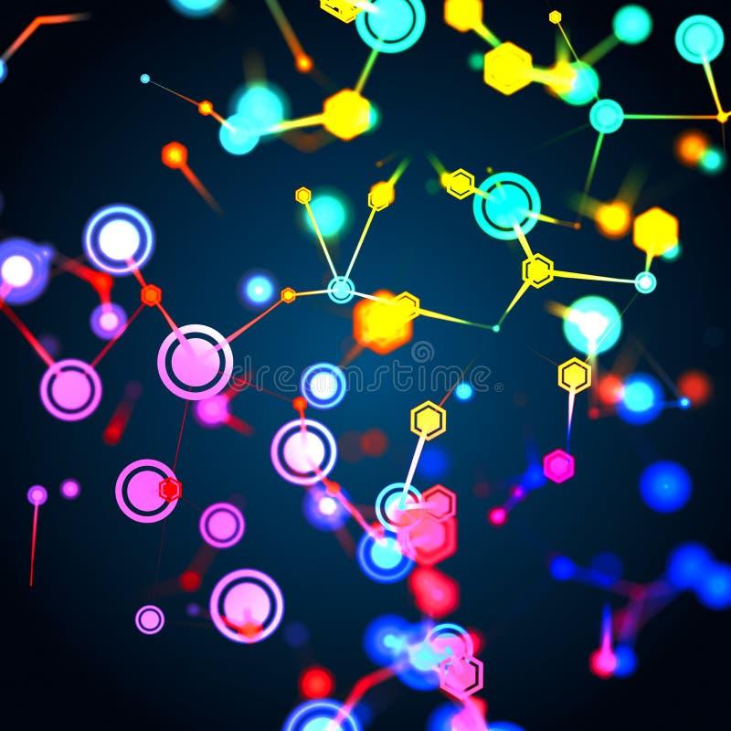 Struttura molecolare e concetto di comunicazione illustrazione di stock
