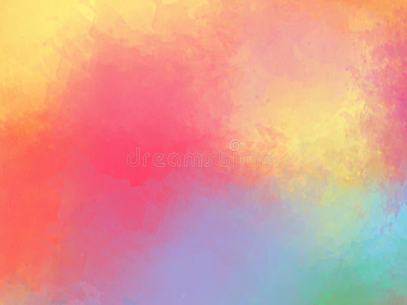 Struttura multicolore del fondo dell'estratto dell'acquerello fotografia stock