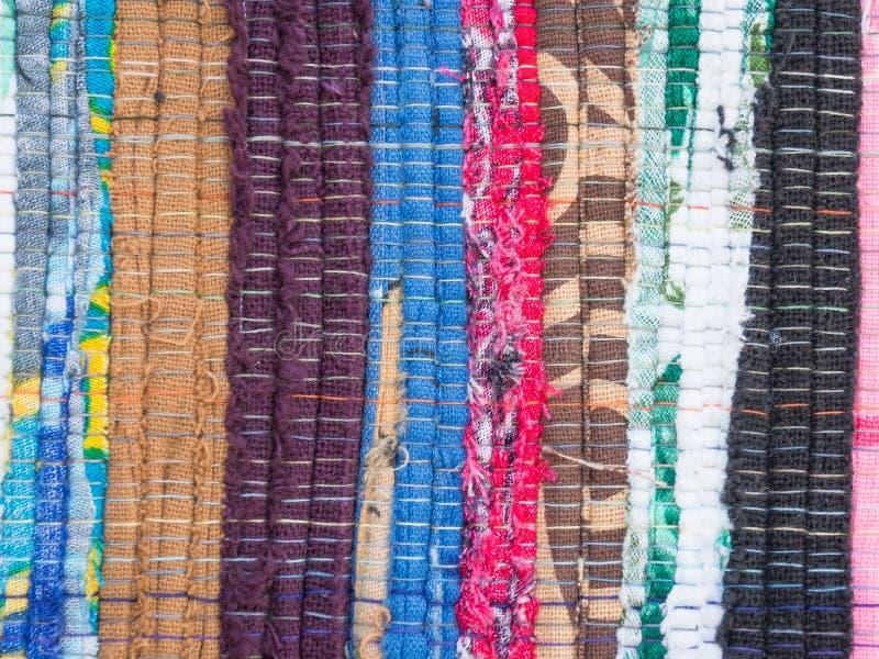 Struttura multicolore del tessuto fotografia stock