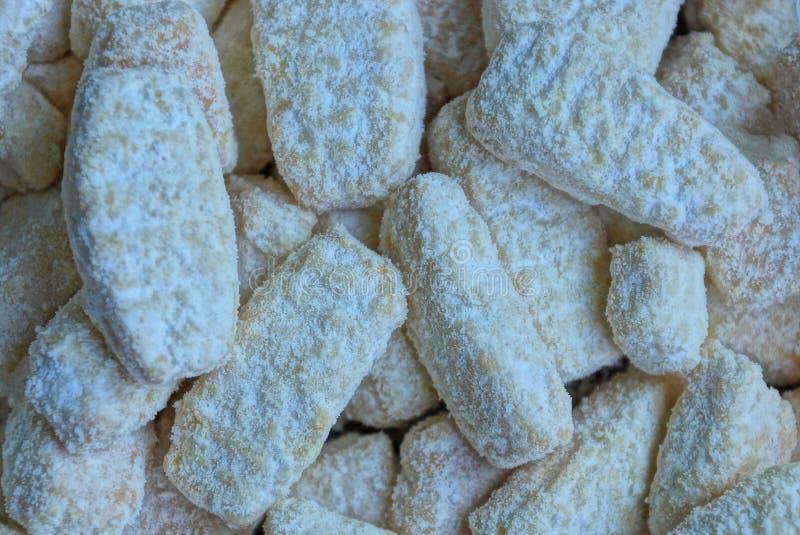 Struttura naturale dei biscotti lunghi dello zucchero bianco immagine stock