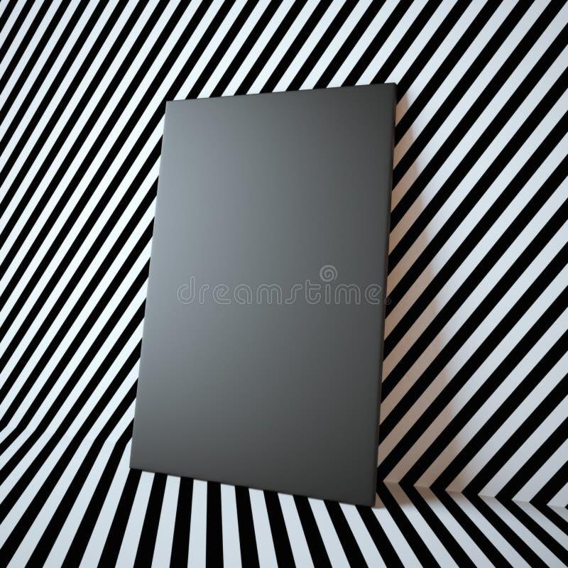 Struttura nera in bianco sui precedenti astratti illustrazione vettoriale