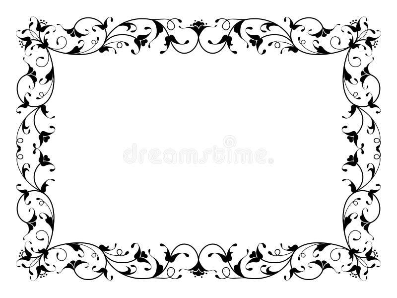 Struttura nera decorativa ornamentale floreale orientale illustrazione vettoriale