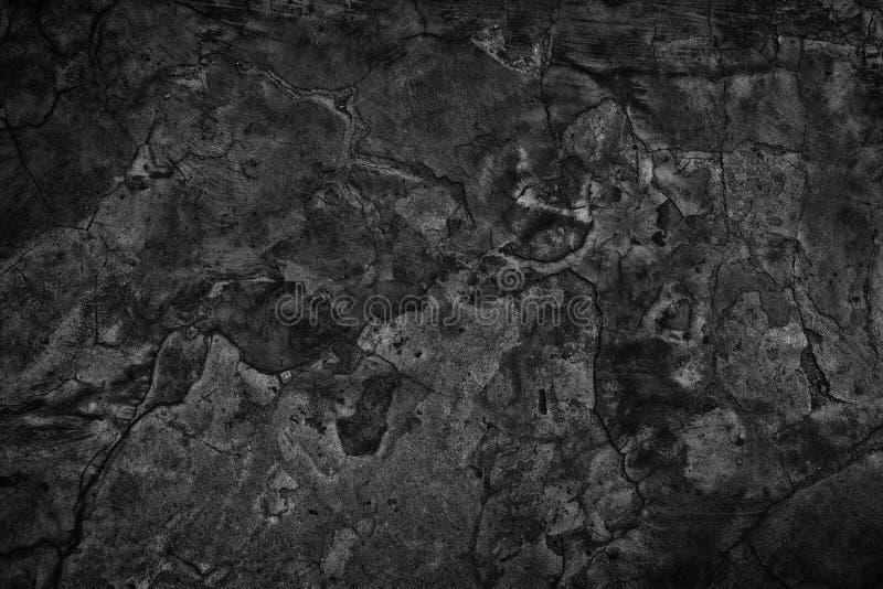 Struttura nera del cemento - muro di cemento incrinato grigio scuro immagine stock libera da diritti