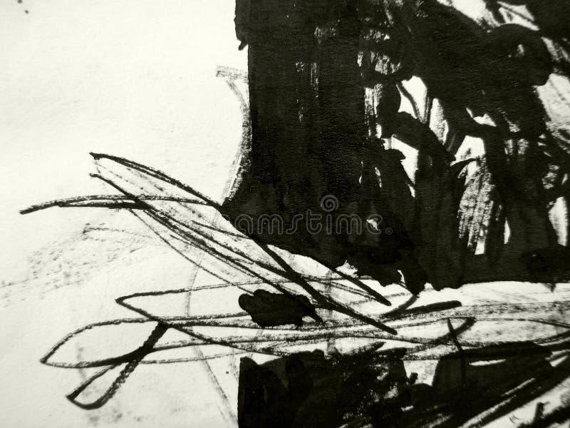 Struttura nera dell'inchiostro fotografia stock
