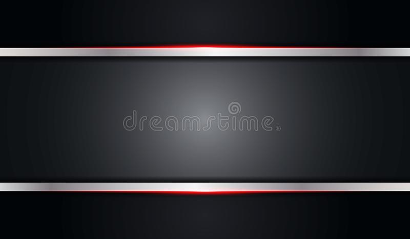 Struttura nera di colore brillante rosso metallico dell'estratto con il fondo moderno del modello di vettore di progettazione di  illustrazione vettoriale