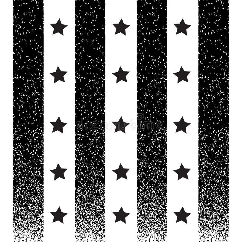 Struttura nera di lerciume e fondo a strisce verticale della stella nera royalty illustrazione gratis