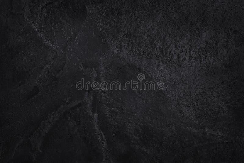 Struttura nera grigio scuro dell'ardesia nel modello naturale Parete di pietra nera fotografie stock