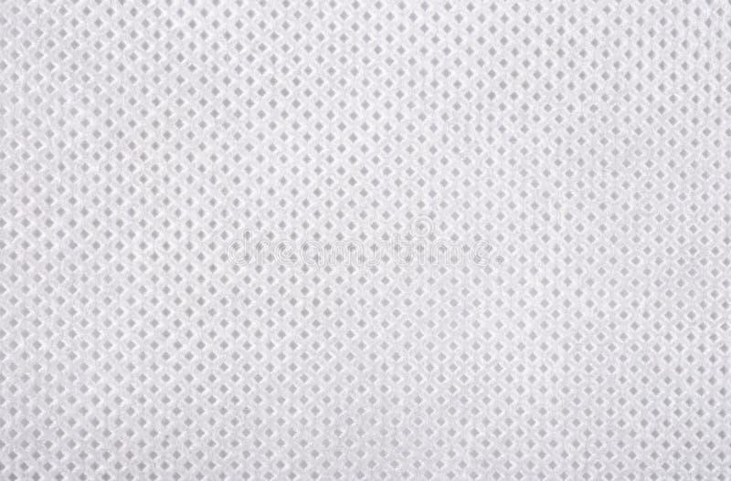 Struttura non tessuta bianca del tessuto fotografia stock