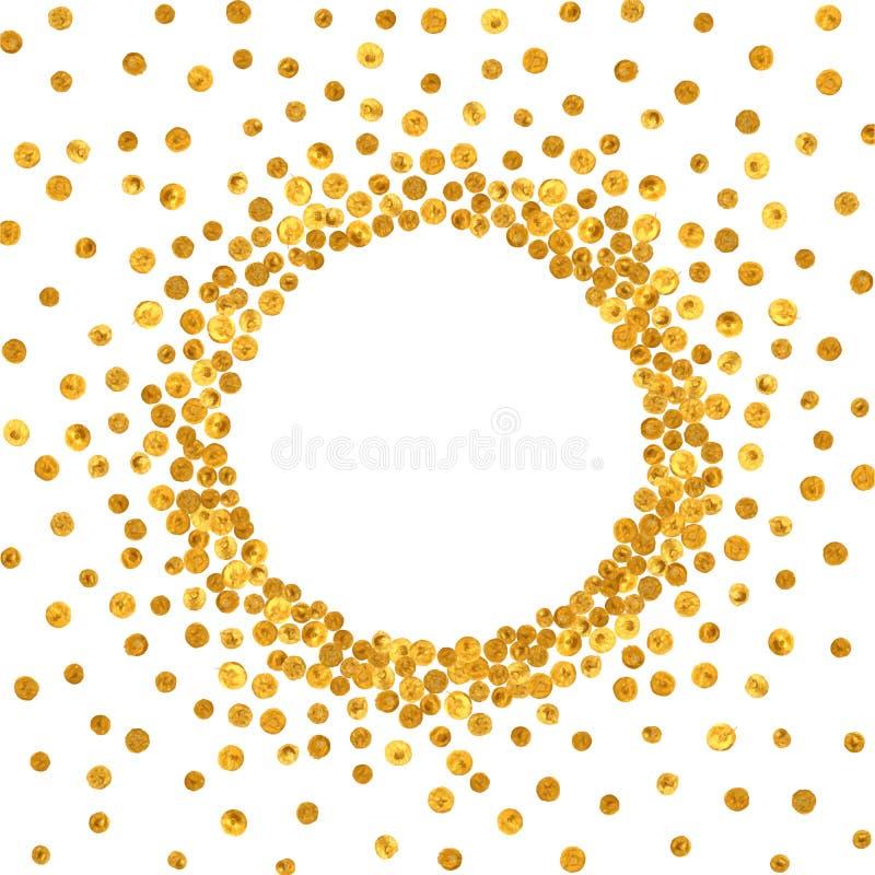 Struttura o confine rotonda dell'oro royalty illustrazione gratis