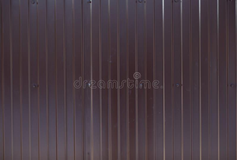 Struttura o fondo orizzontale metallica di Brown immagini stock