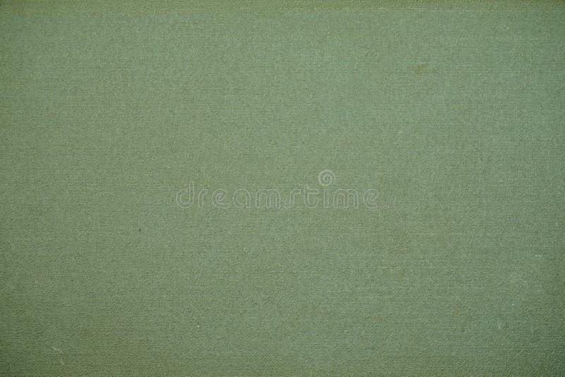 Struttura o priorità bassa verde della tela di canapa fotografia stock libera da diritti