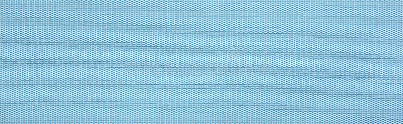 Struttura orizzontale blu del campione del tessuto fotografia stock libera da diritti