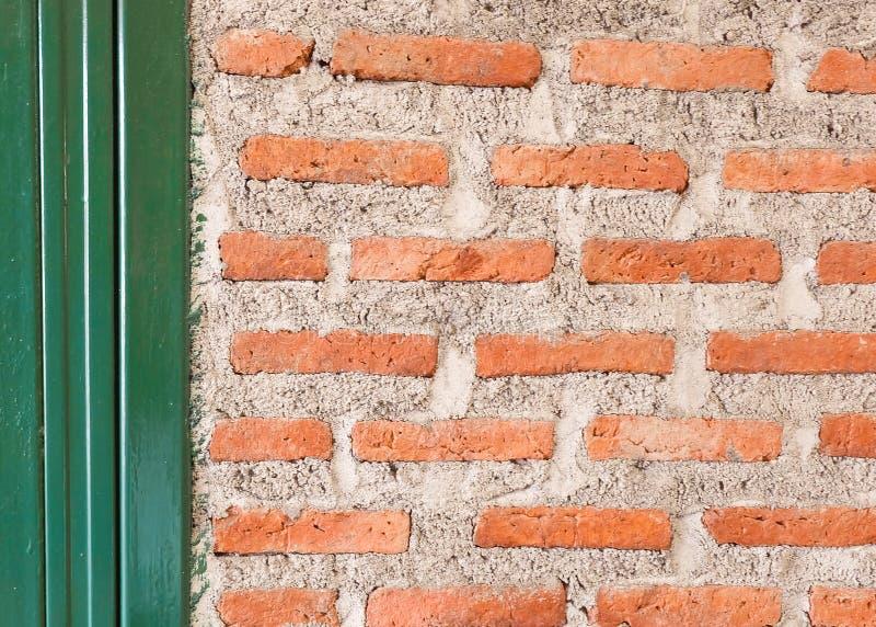 Struttura orizzontale del fondo del muro di mattoni rosso fotografie stock libere da diritti