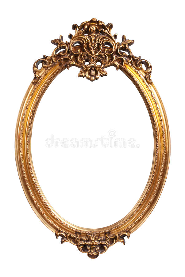 Struttura ovale dell'annata dell'oro fotografia stock