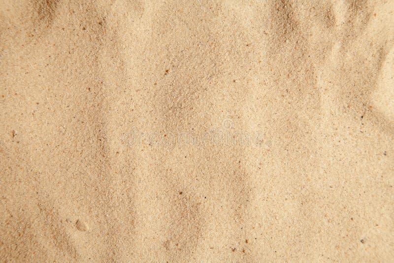 Struttura per 3d Vista superiore della sabbia della spiaggia Fondo di struttura spiaggia di sabbia/delle dune Copi lo spazio uso  immagine stock libera da diritti