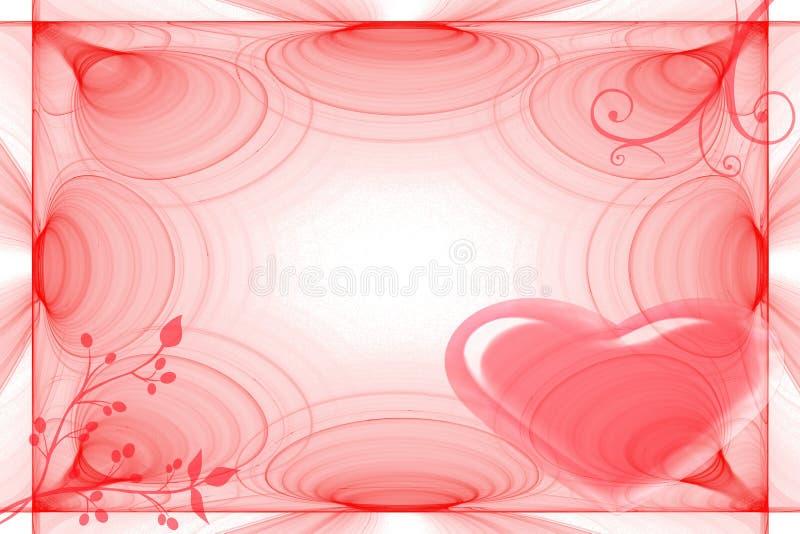 Struttura per i biglietti di S. Valentino di giorno illustrazione vettoriale