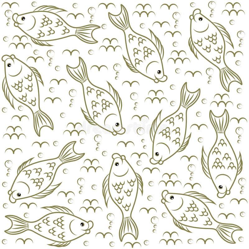 Struttura Pesce Mondo subacqueo illustrazione di stock