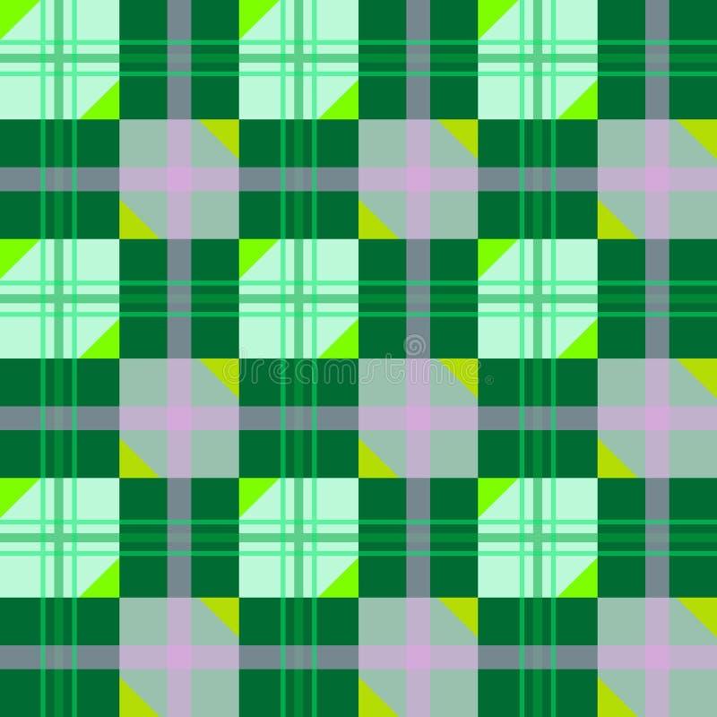 Struttura piacevole con le figure geometriche verdi illustrazione di stock