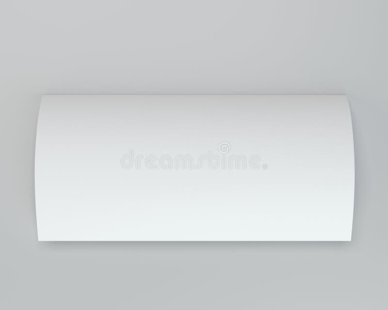 Struttura piegata dello strato della pagina del Libro Bianco rappresentazione 3d fotografia stock