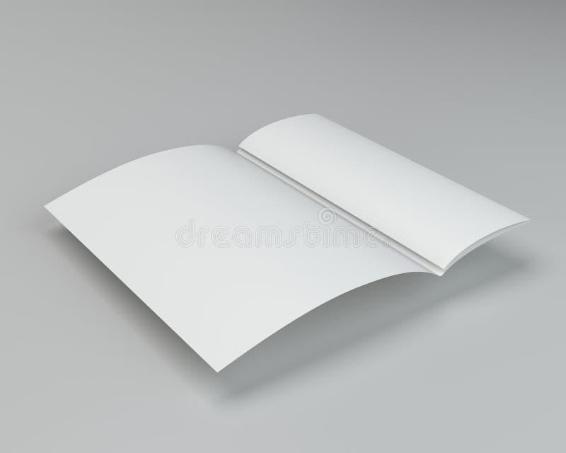 Struttura piegata dello strato della pagina del Libro Bianco rappresentazione 3d immagini stock libere da diritti