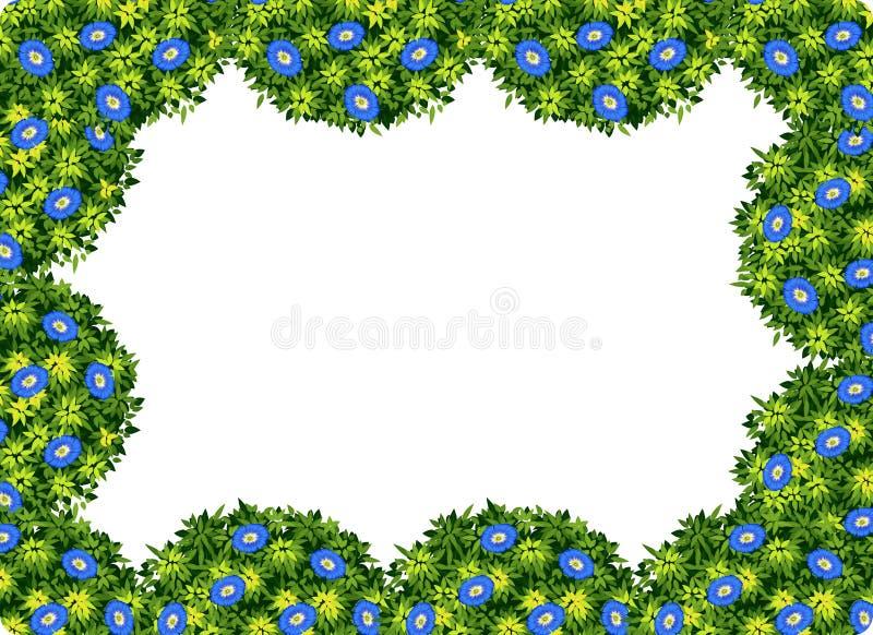 Struttura porpora del cespuglio e del fiore illustrazione vettoriale