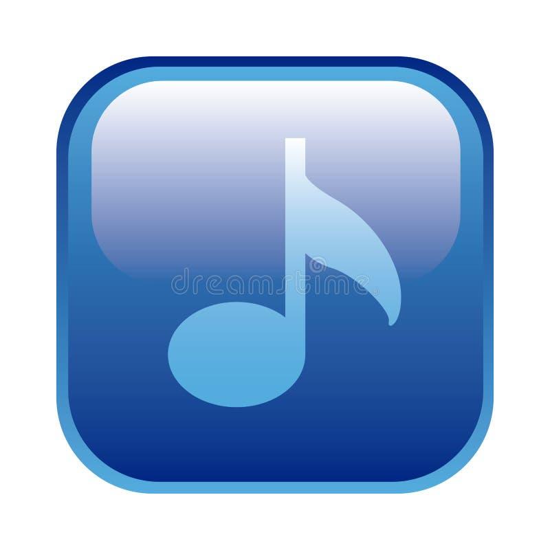 struttura quadrata blu con la nota musicale illustrazione di stock
