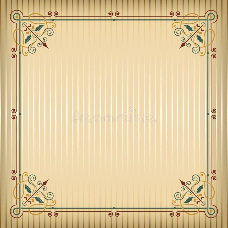 Struttura quadrata decorata e fondo di colore illustrazione di stock